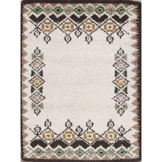 "Rya Sweden Hand Knotted Oriental Floral Area Rug - 3'8"" x 2'2"""
