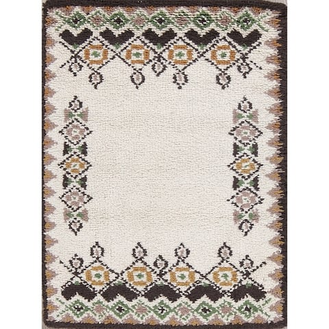 """Rya Sweden Hand Knotted Oriental Floral Area Rug - 3'8"""" x 2'2"""""""