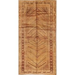 "Vintage Hand Made Traditional Ghashghaei Shiraz Persian Area Rug - 9'2"" x 4'7"""