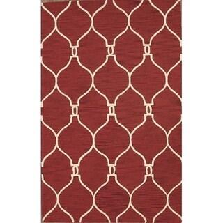 "Oriental Hand Made Moroccan Trellis Oushak Oriental Area Rug - 5'0"" x 8'0"""