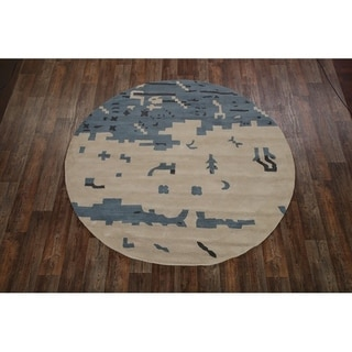 Porch & Den Tranquil Hand-tufted Tribal Gabbeh Oushak Area Rug - 8' Round