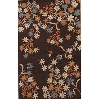 "Agra Oushak Oriental Hand Tufted Floral Area Rug Brown - 5'0"" x 8'0"""