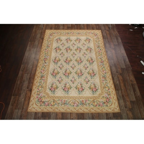 "Tapestries Chinese Oriental Floral Area Rug Hand Woven Wool - 12'1"" x 8'6"""