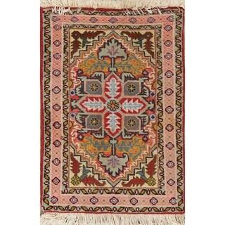 "Oriental Hand Made Tabriz Classical Persian Area Rug - 2'0"" x 1'4"""
