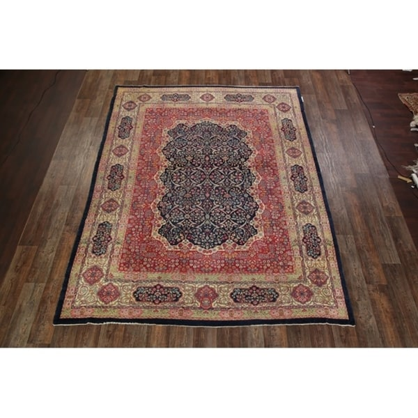 "Antique Kerman Lavar Ravar Persian Handmade Area Rug Wool - 11'7"" x 8'8"""