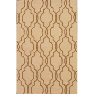 """Hand Made Traditional Moroccan Trellis Oushak Oriental Area Rug - 5'0"""" x 8'0"""""""