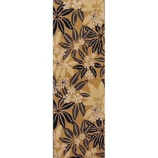 "Hand Tufted Oushak Agra Indian Oriental Floral Rug Carpet - 7'10"" x 2'7"" runner"