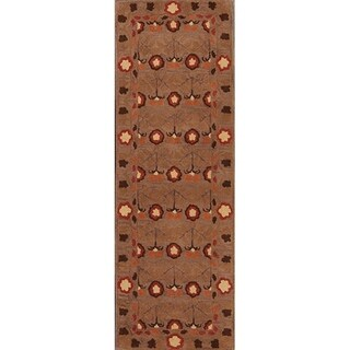 """Link to Hand Made Oushak Agra Traditional Oriental Rug for Floral - 7'10"""" x 2'7"""" runner Similar Items in Transitional Rugs"""