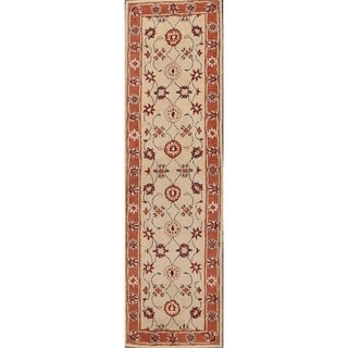 "Copper Grove Karvina Handmade Agra Indian Traditional Oriental Floral Rug - 2'6"" x 9'6"" runner"