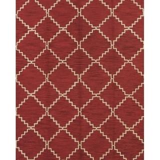 "Porch & Den Audrey Hand-made Moroccan Trellis Wool Oriental Area Rug - 10'11"" x 8'"