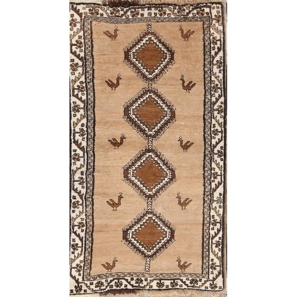 """Traditional Hand Made Gabbeh Persian Oriental Area Rug - 6'5"""" x 3'5"""""""