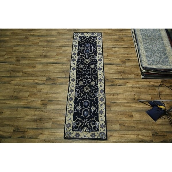 Shop Oushak Floral Tufted Wool Persian Oriental Area Rug: Shop Oushak Traditional Hand Tufted Wool Indian Oriental