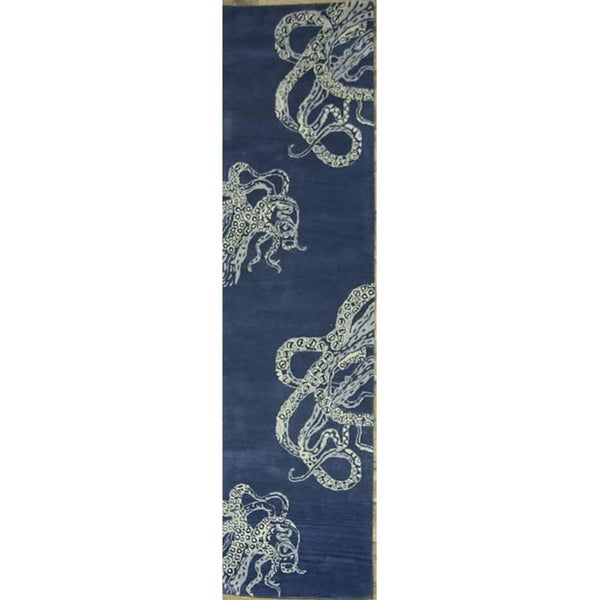 Shop Oushak Floral Tufted Wool Persian Oriental Area Rug: Shop Oushak Hand Tufted Indian Oriental Transitional Area