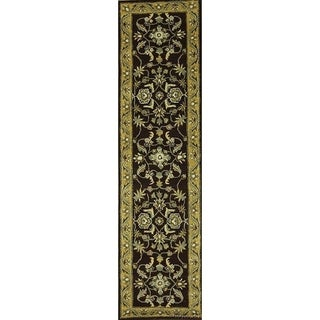 """Copper Grove Ganlose Oushak Oriental Hand-tufted Wool Floral Area Rug - 9'10"""" x 2'6"""" runner"""