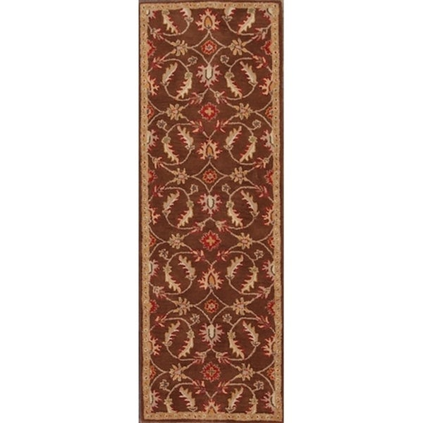 """Hand Tufted Wool Tabriz Traditional Agra Oriental Floral Rug - 7'10"""" x 2'7"""" runner"""