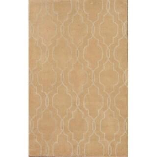 "Copper Grove Graested Moroccan Handmade Trellis Oushak Oriental Area Rug - 7'10"" x 4'11"""