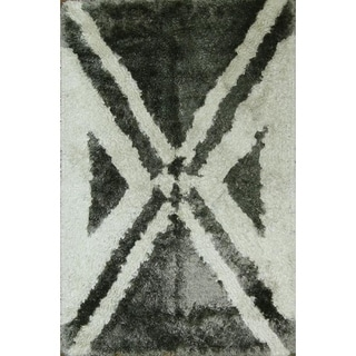 "Porch & Den Thelma Hand-tufted Shaggy Contemporary Oriental Area Rug - 7'9"" x 5'1"""