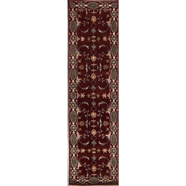 "Hand Made Traditional Oushak Agra Indian Orienta Rug Oriental - 9'10"" x 2'6"" runner"