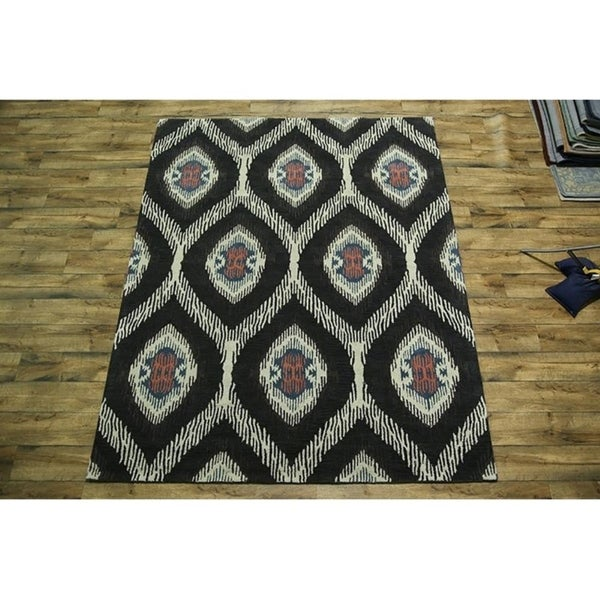 Shop Oushak Floral Tufted Wool Persian Oriental Area Rug: Shop Transitional Hand Tufted Wool Oushak Oriental