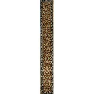 "Gracewood Hollow Nsimbi Hand-tufted Floral Orange Wool Runner Rug - 19'4"" x 2'6"" runner"