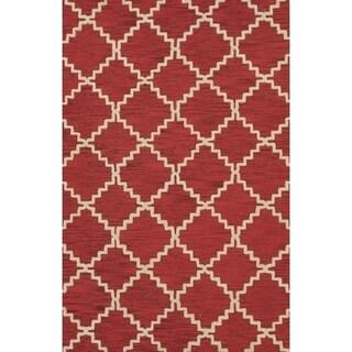 "Copper Grove Kaskinen Moroccan Trellis Hand-tufted Area Rug - 5'0"" x 8'0"""