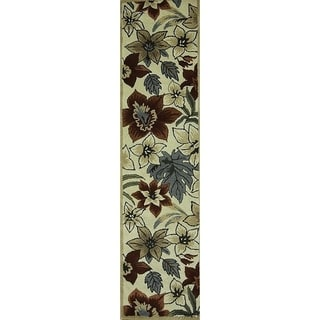 "Copper Grove Hojslev Oushak Oriental Handmade Transitional Beige Area Rug - 9'10"" x 2'6"" runner"