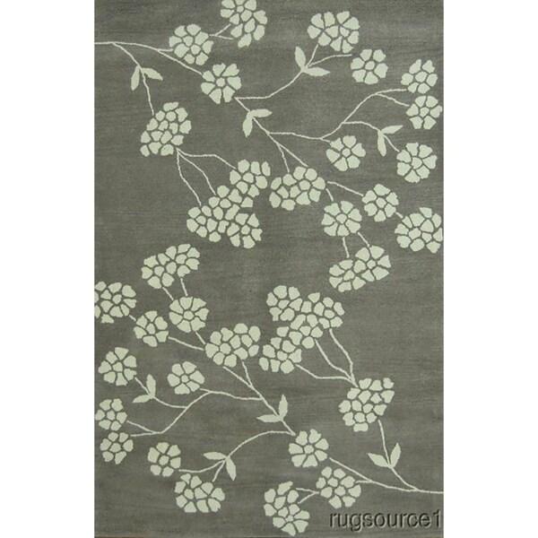 "Copper Grove Troulloi Gabbeh Eastern Classical Area Rug Handmade Wool Beige Carpet - 8'2"" x 5'2"""