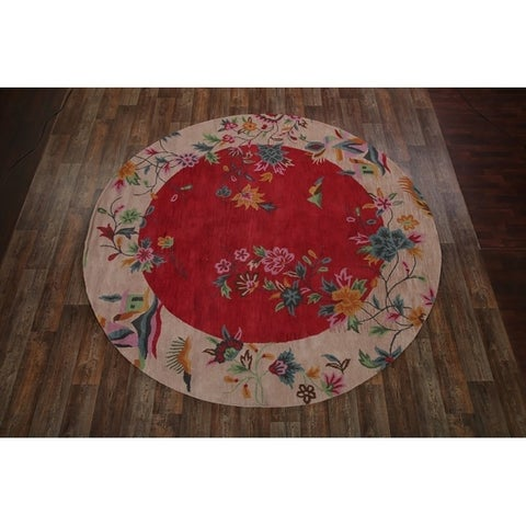 Copper Grove Kalajoki Traditional Floral Handmade Wool Area Rug - 10' Round