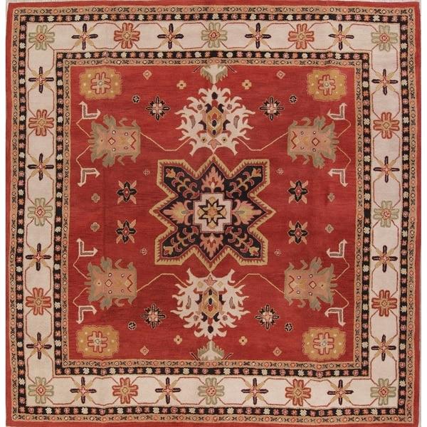 Shop Kazak Hand Tufted Indian Oriental Area Rug Wool Carpet 11 11