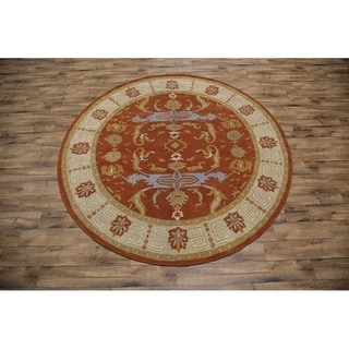 "Copper Grove Juankoski Floral Handmade Area Rug - 9'11"" round"