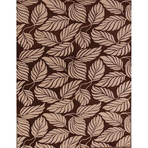 "Copper Grove Frederikshavn Hand-tufted Oriental Genuine Wool Floral Area Rug - 12'2"" x 9'2"""