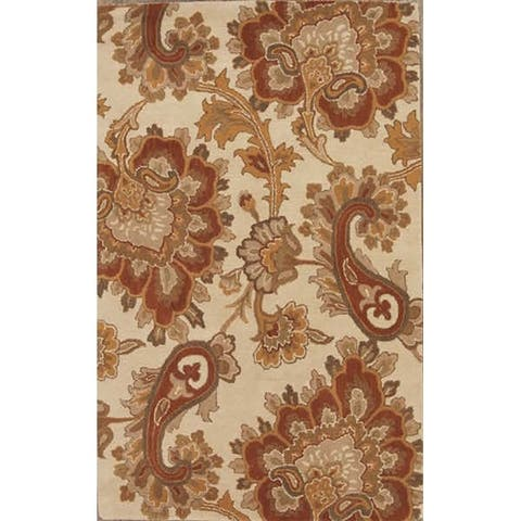 "Gracewood Hollow Snyadanko Handmade Floral Wool Area Rug - 9'0"" x 12'0"""