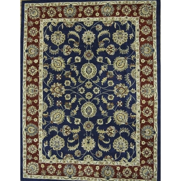 10x10 Square New Oushak Oriental Wool Area Rug: Shop Hand Tufted Oushak Agra Oriental All Over Floral Area