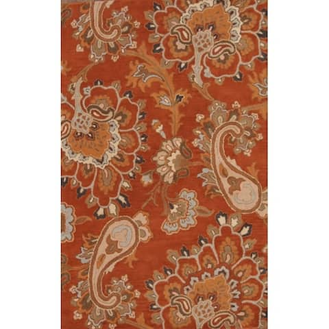 """Copper Grove Frederikssund Hand-tufted Wool Floral Paisley Oriental Area Rug - 8'0"""" x 5'0"""""""