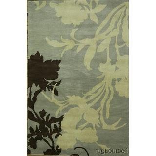 "Gracewood Hollow Kyomuhendo Hand-tufted Floral Wool Area Rug - 8'2"" x 5'2"""