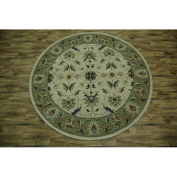"Copper Grove Prerov Handmade Oushak Ziegler Traditional Agra Oriental Area Rug - 10'2"" round"