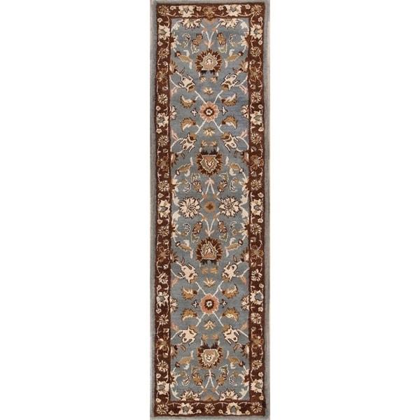 "Gracewood Hollow Batanda Hand-tufted Floral Wool Runner Rug - 11'8"" x 2'6"" runner"