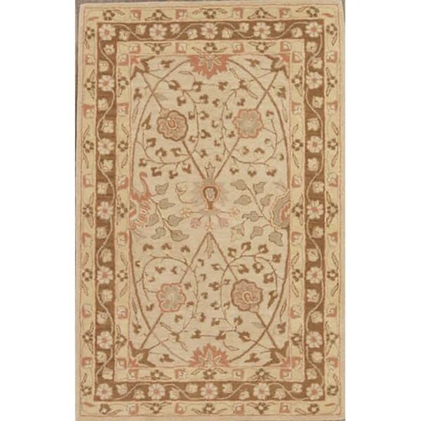 "Gracewood Hollow Abinader Made Blend Oushak Indian Rug - 5'0"" x 8'0"""
