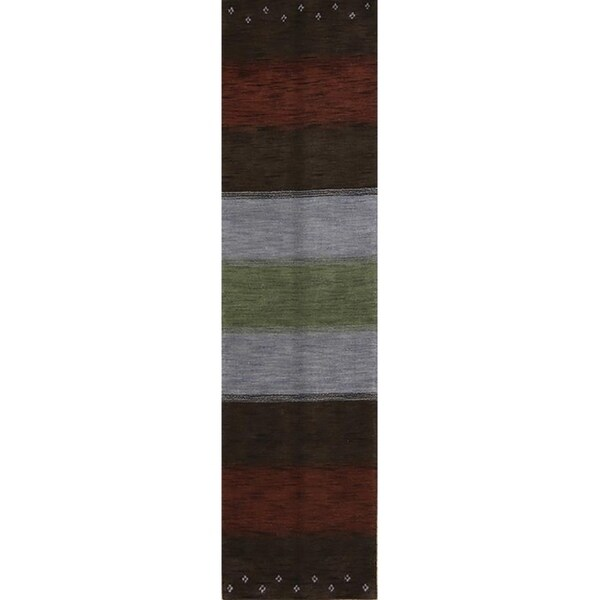"Carson Carrington Behec Wool Oriental StripeRed Rug - 9'9"" x 2'6"" runner"