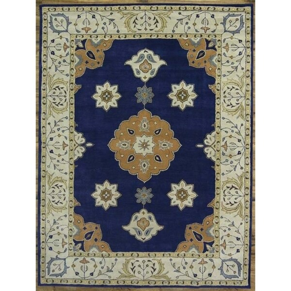 "Gracewood Hollow Varujan Tabriz Blend Oriental Hand Made Oriental Traditional Rug - 12'6"" x 9'8"""
