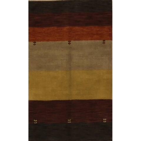 Porch & Den Talwood Hand-knotted Striped Wool Gabbeh Orien