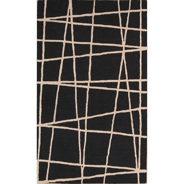 "Strick & Bolton Azito Hand-tufted Abstract Area Rug - 8'0"" x 5'0"""