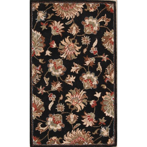 """The Curated Nomad Treat Handmade Persian Style Handmade Oriental Floral Area Rug - 5'0"""" x 3'0"""""""
