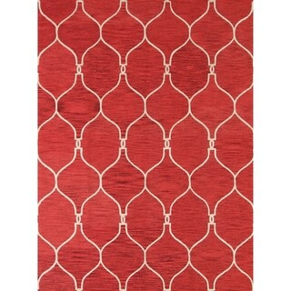 "Copper Grove Frederiksberg Moroccan Trellis Hand-tufted Oriental Modern Area Rug - 10'0"" x 8'0"""