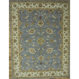 """Copper Grove Skibby Oushak Oriental Hand-tufted Wool Floral Area Rug - 10'0"""" square"""