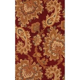 "Copper Grove Svinninge Oushak Handmade Wool Oriental Floral Area Rug - 5' x 7'11"""
