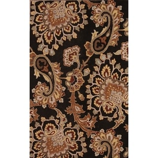 """Link to Gracewood Hollow Zahrad Hand Blend Made Oushak Oriental Rug - 5'1"""" x 7'9"""" Similar Items in Rugs"""