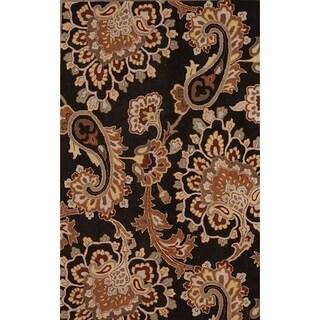 "Gracewood Hollow Zahrad Hand Blend Made Oushak Oriental Rug - 5'1"" x 7'9"""