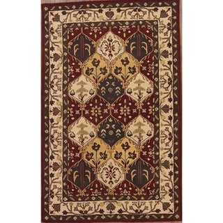 """Copper Grove Roskilde Handmade Wool Tabriz Traditional Agra Indian Oriental Floral Area Rug - 13'1"""" x 9'8"""""""