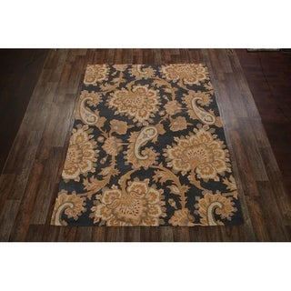 "Copper Grove Stenlose Hand-tufted Traditional Floral Indian Oriental Area Rug - 8'0"" x 11'0"""